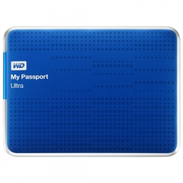 WD 500GB My Passport Ultra Portable Blue Hard Drive